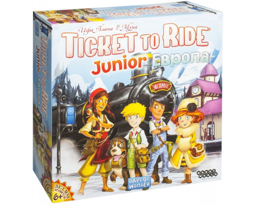 Билет на поезд Junior(6+): Европа (Ticket to Ride Junior)
